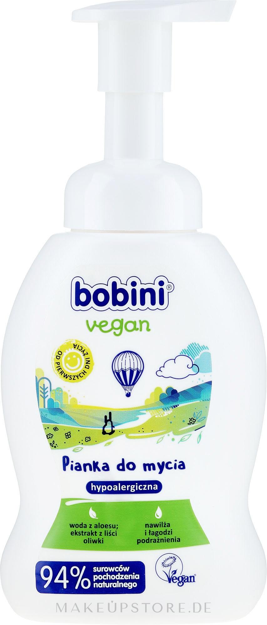 Veganer und hypoallergener Badeschaum für Kinder - Bobini Vegan — Bild 300 ml
