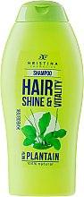 Düfte, Parfümerie und Kosmetik Shampoo mit Wegerichextrakt für mehr Glanz - Hristina Cosmetics Hair Shine & Vitality With Plantain Shampoo