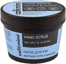 Düfte, Parfümerie und Kosmetik Handpeeling mit Meersalz und Mandel - Cafe Mimi Hand Scrub