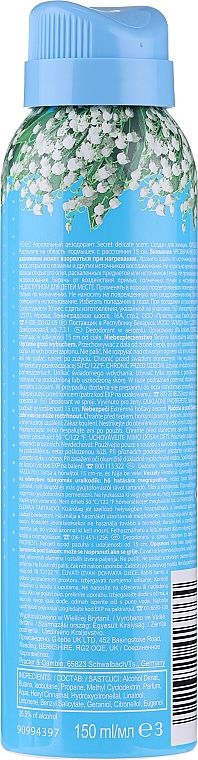 Deospray Antitranspirant - Secret Key Delicate Deodorant Spray — Bild N2