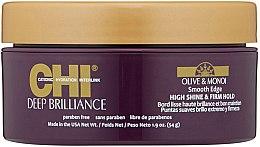 Düfte, Parfümerie und Kosmetik Glättende Haarcreme mit Oliven- und Monoiöl für hohen Glanz und festen Halt - CHI Deep Brilliance Olive & Monoi Smooth Edge High Shine & Firm Hold