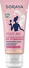 Düfte, Parfümerie und Kosmetik Glättende Gesichtsmaske mit rosa Ton und Traubenextrakt - Soraya Sleep Well