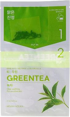 Tuchmaske mit Grüntee-Extrakt - Holika Holika Brewing Tea Bag Mask Green Tea — Bild N1