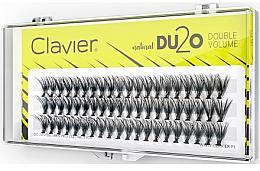 Düfte, Parfümerie und Kosmetik Künstliche Wimpernbüschel für doppeltes Volumen 14 mm - Clavier DU2O Double Volume