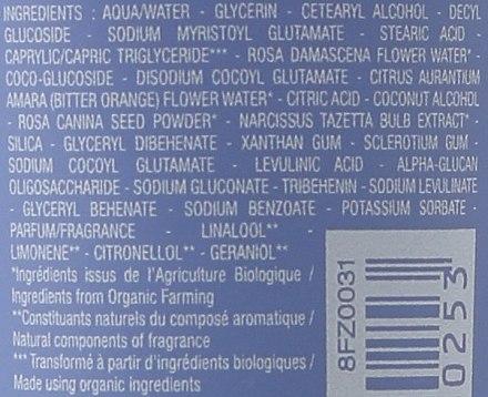 Zarte Peelingcreme für das Gesicht mit Rosen- und Orangenblütenwasser und Narzissenextrakt - Melvita Bouquet Floral Exfoliating Cleansing Cream — Bild N3