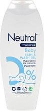 Düfte, Parfümerie und Kosmetik Bade- und Duschgel für empfindliche Baby- und Kinderhaut - Neutral Baby Bath & Wash Gel