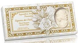 Düfte, Parfümerie und Kosmetik Naturseifen-Geschenkset - Saponificio Artigianale Cameo Soap Floral Bouquet Donatello Collection (3x125g)