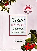Düfte, Parfümerie und Kosmetik Tuchmaske für das Gesicht mit Rosenholz - Tony Moly Natural Aroma Rose Wood Mask Sheet