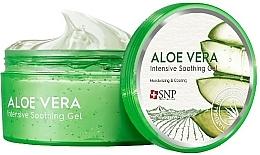 Düfte, Parfümerie und Kosmetik Feuchtigkeitsspendendes, aufweichendes, beruhigendes und regenerierendes Gesichts- und Körpergel mit Aloe Vera für alle Hauttypen - SNP Intensive Snail Soothing Gel