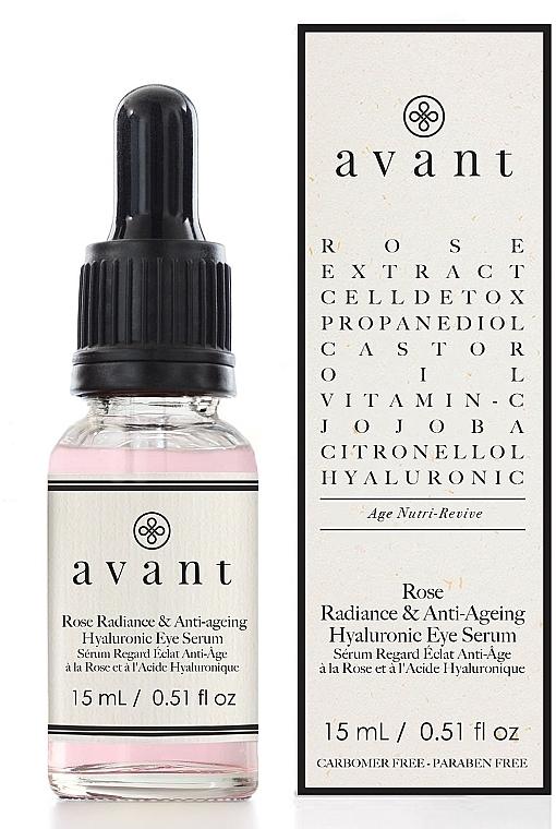 Anti-Aging Augenserum mit Hyaluronsäure und Rosenextrakt - Avant Rose Radiance & Anti-ageing Hyaluronic Eye Serum — Bild N1