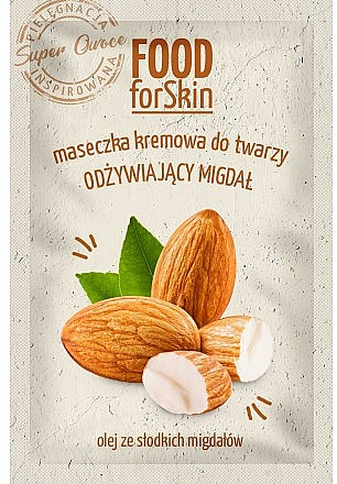 Nährende Creme-Maske für das Gesicht mit süßem Mandelöl - Marion Food for Skin Cream Mask Nourishing Almond