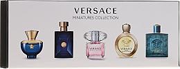 Düfte, Parfümerie und Kosmetik Versace Miniatures Collections - Duftset (Eau de Toilette 4x5ml + Eau de Parfum 1x5ml)