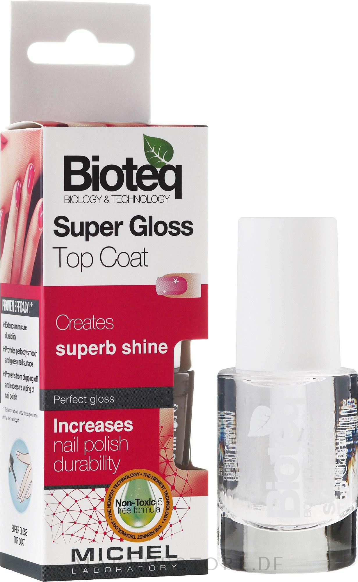 Nagelüberlack mit Glanz-Effekt - Bioteq Super Gloss Top Coat — Bild 10 ml