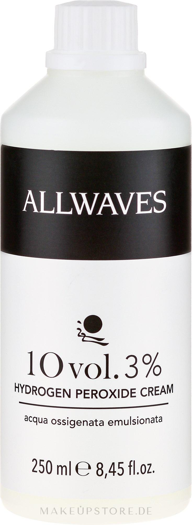 Entwicklerlotion 3% - Allwaves Cream Hydrogen Peroxide 3% — Bild 250 ml