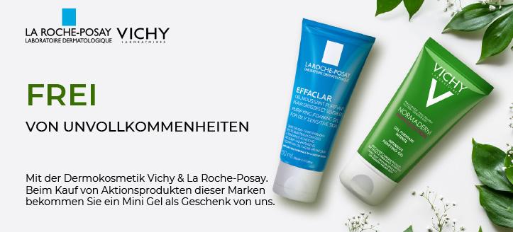 Beim Kauf von Aktionsprodukten Vichy & La Roche-Posay dieser Marken bekommen Sie ein Mini Gel als Geschenk von uns