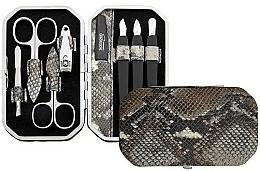 Düfte, Parfümerie und Kosmetik Maniküre-Set 8-tlg. braun-grau mit Schlangenmuster - DuKaS Premium Line PL 191HSH