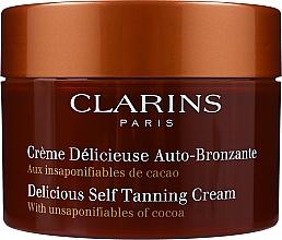 Düfte, Parfümerie und Kosmetik Autobronzant für Gesicht und Körper mit Kakaoduft - Clarins Delicious Self Tanning Cream