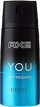 "Düfte, Parfümerie und Kosmetik Deospray ""You Refreshed"" - Axe You Refreshed Deodorant Spray"