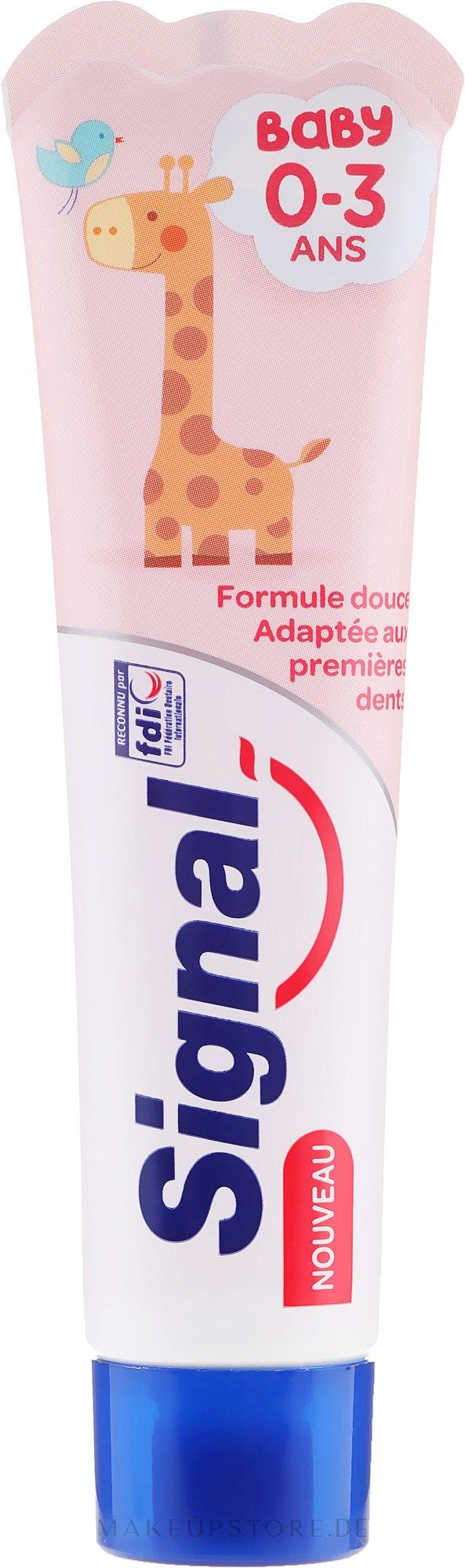 Kinderzahnpasta 0-3 Jahre mit Himbeergeschmack - Signal Signal Kids Strawberry Toothpaste — Bild 50 ml