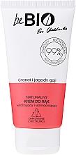 Düfte, Parfümerie und Kosmetik Pflegende Handcreme mit Goji-Beere und Granatapfel - BeBio Natural Hand Cream Goji Berry & Pomegranate
