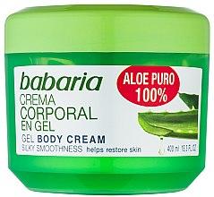 Regenerierendes feuchtigkeitsspendendes, glättendes und erfrischendes Körpercreme-Gel mit Aloe Vera-Extrakt - Babaria Aloe Vera — Bild N1