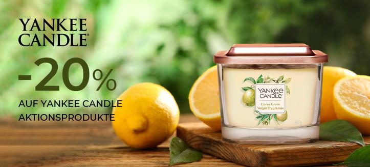 20% Rabatt auf Yankee Candle Aktionsprodukte. Die Preise auf der Website sind inklusive Rabatt