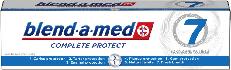 Zahnpasta Complete Protect 7 Crystal White - Blend-a-Med Complete Protect 7 Crystal White Toothpaste