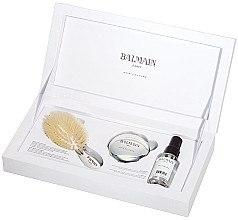 Düfte, Parfümerie und Kosmetik Haarpflegeset - Balmain Silver Brush Set Mini (Haarspray 50ml + Haarbürste + Kosmetikspiegel)