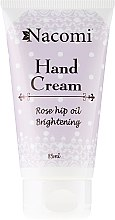 Düfte, Parfümerie und Kosmetik Handcreme - Nacomi Hand Cream With Cold-Pressed Rose Hip Oil