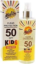 Düfte, Parfümerie und Kosmetik Wasserfestes Sonnenschutzspray für Kinder SPF 50 - Malibu Kids Clear Protection Spray SPF 50