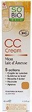 Düfte, Parfümerie und Kosmetik Feuchtigkeitsspendende beruhigende CC Creme mit organischer Eselmilch - So'Bio Etic CC Cream with Organic Donkey Milk
