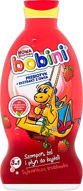 "3 in 1 Shampoo, Duschgel und Schaumbad ""Erdbeere"" - Bobini — Bild N1"