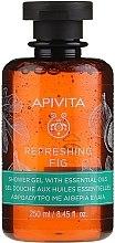 Düfte, Parfümerie und Kosmetik Duschgel mit Feige und ätherischen Ölen - Apivita Refreshing Fig Shower Gel with Essential Oils