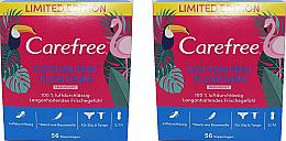 Düfte, Parfümerie und Kosmetik Slipeinlagen mit Frischeduft 2x56 St. - Carefree Cotton Feel Flexiform
