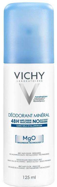 Deospray mit Mineralien - Vichy Mineral Deodorant Spray 48H Sensitive Skin — Bild N1