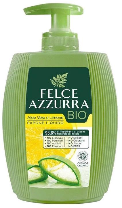 Flüssigseife Aloe Vera und Zitrone - Felce Azzurra BIO Aloe Vera & Lemon Liquid Soap — Bild N1
