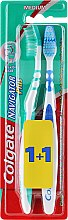 Düfte, Parfümerie und Kosmetik Zahnbürste mittel Navigator Plus grün, blau 2 St. - Colgate