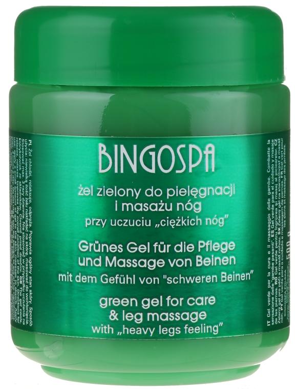 Grünes Massagegel zur Stärkung der Kapillare für müde Beine - BingoSpa Green Gel — Bild N1
