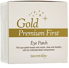 Düfte, Parfümerie und Kosmetik Augenpatches mit kolloidalem Gold - Secret Key Gold Premium First Eye Patch