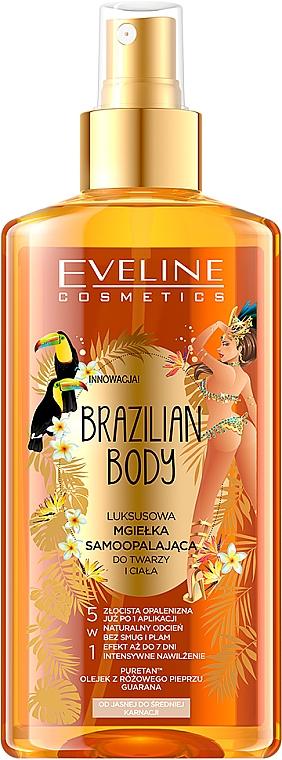 Feuchtigkeitsspendendes Gesichts- und Körperöl mit Bräunungseffekt - Eveline Cosmetics Brazilian Mist Face & Body