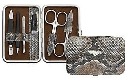 Düfte, Parfümerie und Kosmetik Maniküre-Set 6-tlg. braun-grau mit Schlangenmuster - DuKaS Premium Line PL 126HSH
