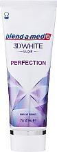 Düfte, Parfümerie und Kosmetik Zahnpasta 3D White Luxe Perfection - Blend-a-med 3D White Luxe Perfection Toothpaste