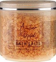 Düfte, Parfümerie und Kosmetik Badesalze Bernstein und Gold - Hristina Cosmetics Sezmar Professional Amber & Gold Bath Salts