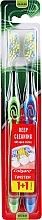 Düfte, Parfümerie und Kosmetik Zahnbürste mittel Twister grün, blau 2 St. - Colgate Twister Medium