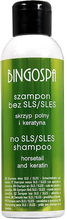 Keratin Shampoo für dickes, stumpfes und strapaziertes Haar - BingoSpa Shampoo Without SLES / SLS Keratin