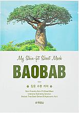 Düfte, Parfümerie und Kosmetik Intensiv feuchtigkeitsspendende Tuchmaske für das Gesicht mit Affenbrotbaumextrakt - A'Pieu My Skin-Fit Sheet Mask Baobab