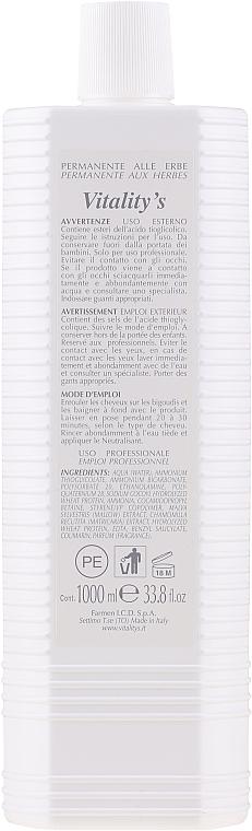 Dauerwell-Lotion mit Kräutern №3 - Vitality's Capillare Permanente №3 — Bild N2