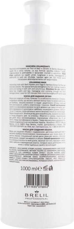 Haarmaske für mehr Volumen mit Bach-Blüten und Bambus - Brelil Bio Treatment Volume Hair Mask — Bild N4