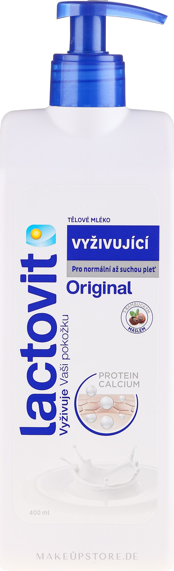 Körpermilch mit Vitaminen und Proteinen aus Milch - Lactovit Original Body Lotion — Bild 400 ml