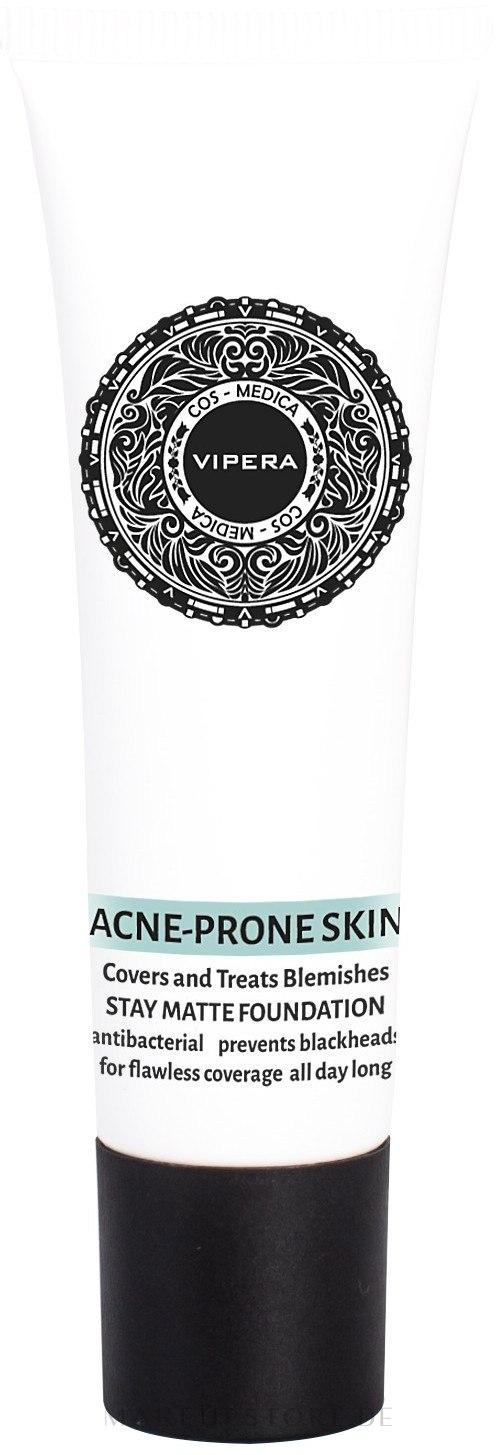 Mattierende Foundation - Vipera Cos-Medica Acne Prone Skin Stay Matte Foundation — Bild 04 - Champagne